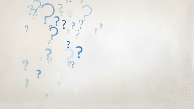 Floating Question Marks Background Loop - Pastel Blue HD