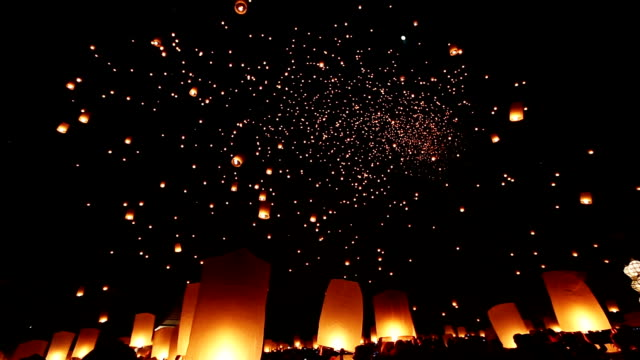 Floating Sky Lantern Floating Sky Lantern lantern stock videos & royalty-free footage
