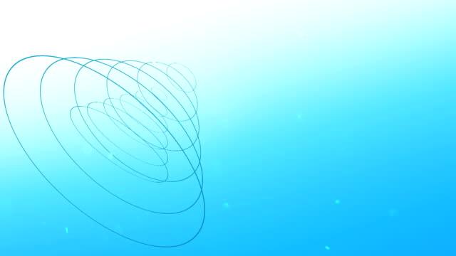 vidéos et rushes de flottant à trois dimensions entonnoir - entonnoir