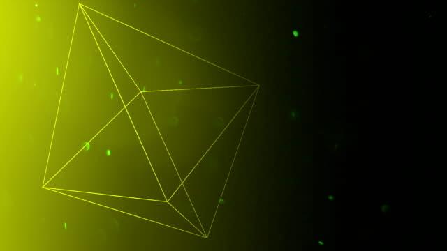 Floating three dimensional pyramids video