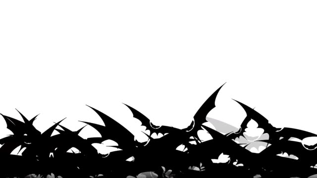 Flock of bats in black ink from the center, bottom to top, left to right direction movement. Halloween matte transitions. You can use them as luma matte, transitions between video in the overlay mode. Flock of bats in black ink from the center, bottom to top, left to right direction movement. Halloween matte transitions. You can use them as luma matte, transitions between video in the overlay mode. vampire stock videos & royalty-free footage