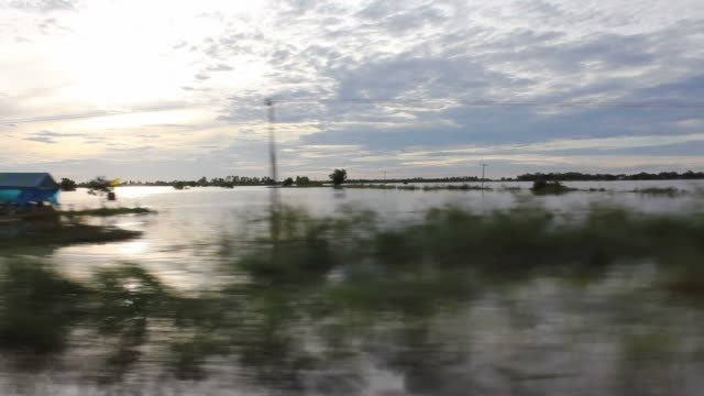 Flood train travel.