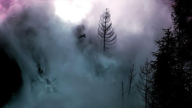 überschwemmung wellen zerstörung valley (endlos wiederholbar) - staudamm stock-videos und b-roll-filmmaterial