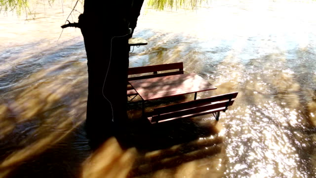 Flooded bench video