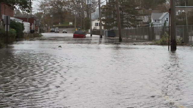 Flooded streets after Hurricane Sandy video