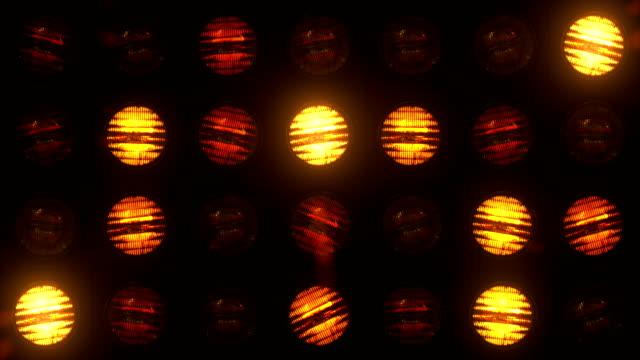 Floodlight Lights Flashing Wall VJ Stage Floodlight Lights Flashing Wall VJ Stage Led blinder Blinking club concert dance disco dj matrix beam dmx fashion halogen headlamp jarag lamp nightclub party pub Loop 4K stage light stock videos & royalty-free footage