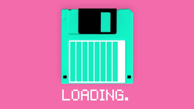 """vídeos y material grabado en eventos de stock de disquete de carga de 3,5"""" pulgadas con animación de barra de progreso - disquete"""