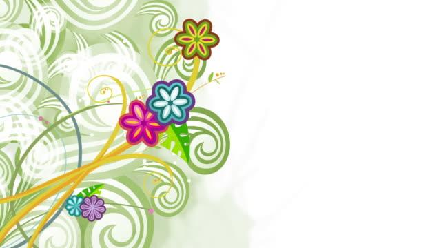 floral background animation - loop - blommönster bildbanksvideor och videomaterial från bakom kulisserna