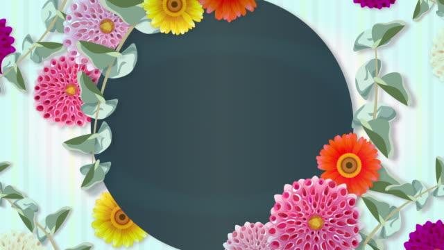 stockvideo's en b-roll-footage met floral prikbord. elegante bloemen. botanical freme! - aankondigingsbericht