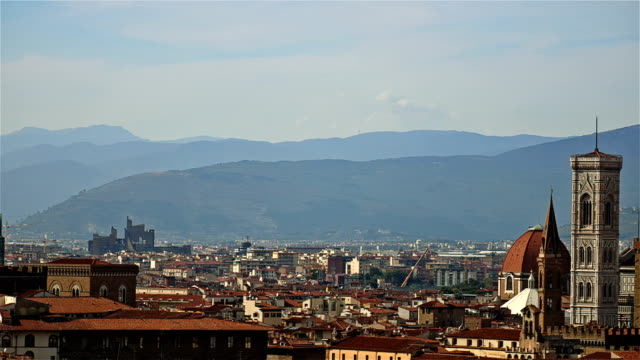 Florence city skyline in italy video
