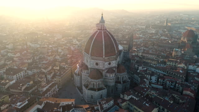 florence, ita - katedral ve cityscape 4k - toskana stok videoları ve detay görüntü çekimi