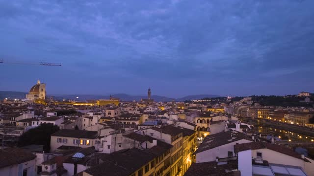 Florence italy city skyline at twilight