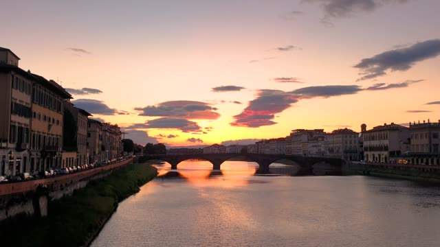 Florence, Italy skyline in sunset
