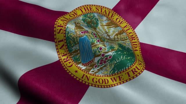 Florida Flag Seamless Looping Waving Animation Flag Realistic Animation Seamless Loop  – Full HD 1920×1080 – Loopable florida us state stock videos & royalty-free footage