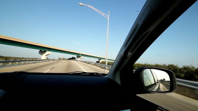 Florida highway. Under the bridge. video