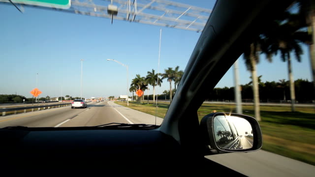 Florida highway. Windshield view. video