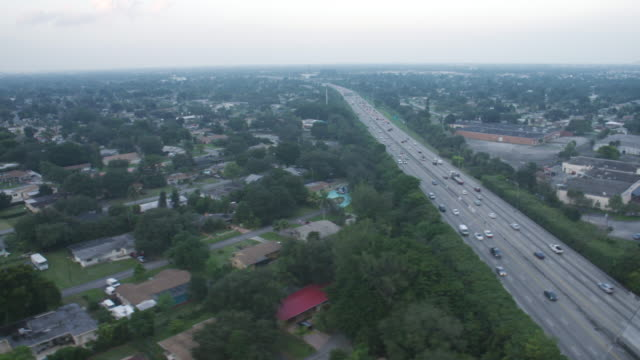 Floridas Turnpike Toll Road Intersection Wth Pembroke Rd Aerial View video