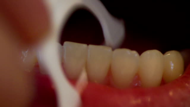 Flossing-Extreme Close Up video