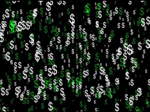 vídeos y material grabado en eventos de stock de flujo de dólar símbolos - accesorio financiero