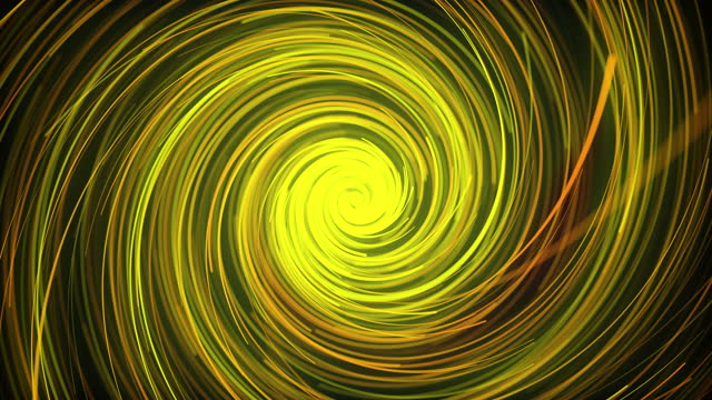 Flow of light glow lines, computer generated. 3d rendering of an abstract spiral background