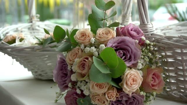花の装飾  - テーブル 無人のビデオ点の映像素材/bロール
