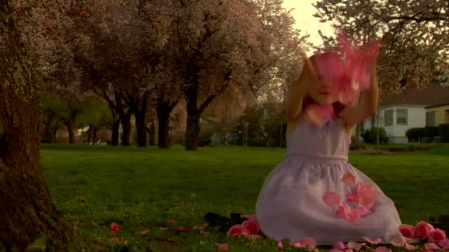 Flower Girl Throwing Petals Slow Mo 720p HD