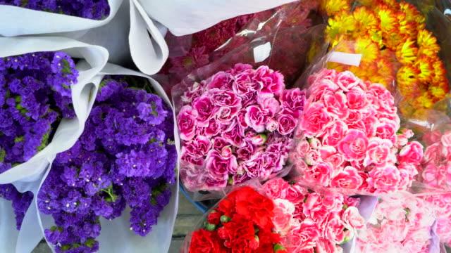 blomma marknaden thailand - blomstermarknad bildbanksvideor och videomaterial från bakom kulisserna