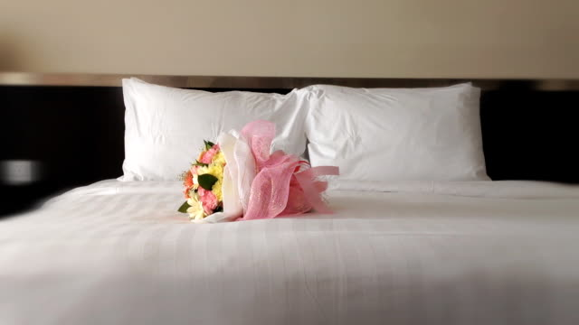 Flower on he bed video