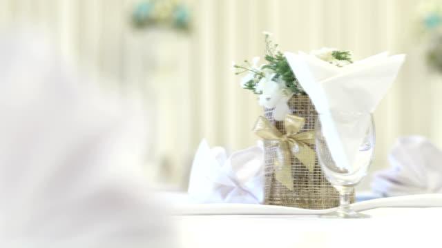 Flower on Wedding Reception Table video