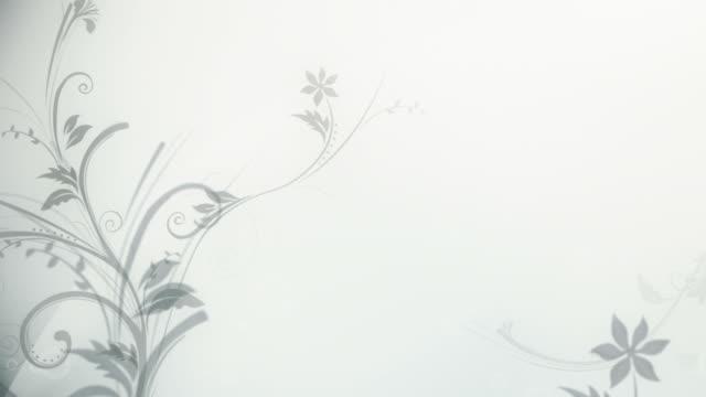 Flower Pattern Background (Silver/White) - Loop