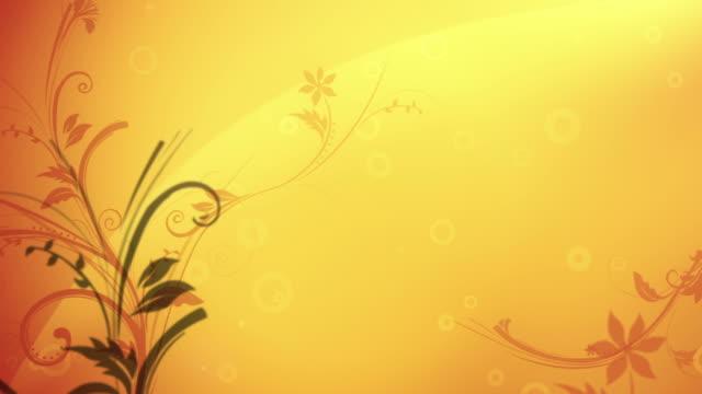 Flower Pattern Background (Golden) - Loop video