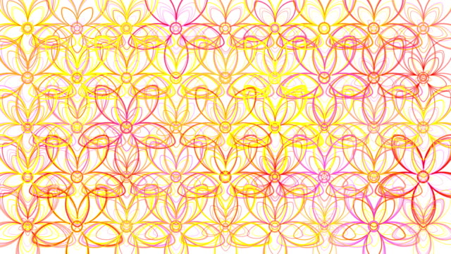 Flower Power Outlines Loop  - White Background video