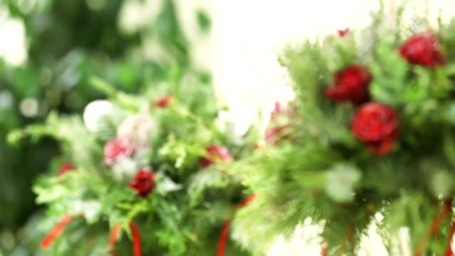 decorazione di fiori - feltro video stock e b–roll
