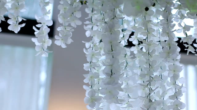 flowers hanging on wedding hall - prom fashion stock videos and b-roll footage