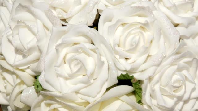 flowers-white roses - white roses bildbanksvideor och videomaterial från bakom kulisserna