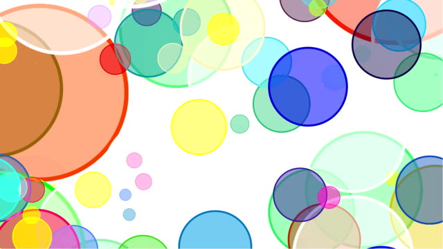 Flowing Bubbles on White Background video