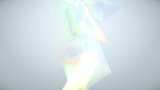Flowing geometric triangles video
