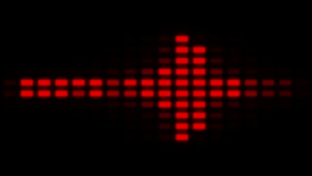 Flowing LED Background - Graphic Equaliser video