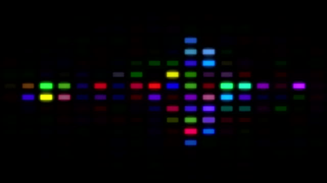 Flowing LED Background - Graphic Equaliser video
