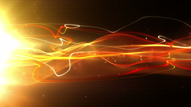vídeos de stock, filmes e b-roll de fluindo fundo de raios de luz, loop-vermelho intenso (full hd - light trail