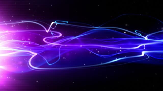 Flowing Light Streaks Background Loop - Neon Pink (Full HD) video
