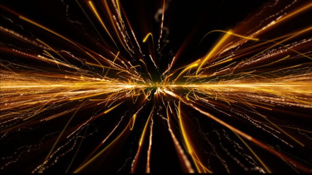 Flowing Streak Orange Technology Communication Line Scifi Wave Motion Background