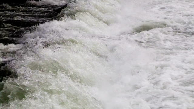 Flowing water in river video