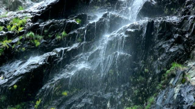 Fließendes Wasser am alpine rock – Video