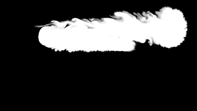 Flowing white on black abstract painting background video