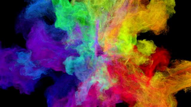 flytande partiklar explosion - färgbild bildbanksvideor och videomaterial från bakom kulisserna