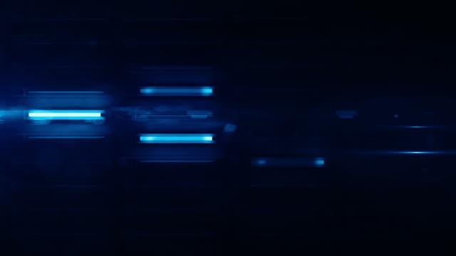 neonlicht wand hintergrund loop-blue glow (full hd) - blitzbeleuchtung stock-videos und b-roll-filmmaterial
