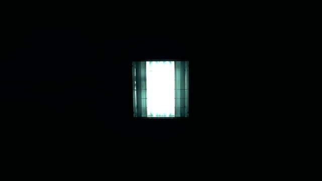 fluorescent lights turning on and off - soffitto video stock e b–roll