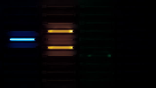 Fluro Light Wall Background Loop - Rainbow Glow (Full HD) video