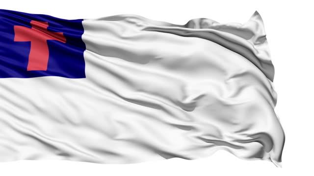 Christian bandera aleteo blanco - vídeo